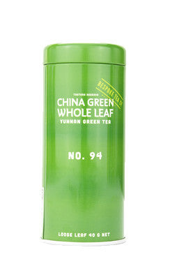 Yunnan green organic tea tips 40 gram tin