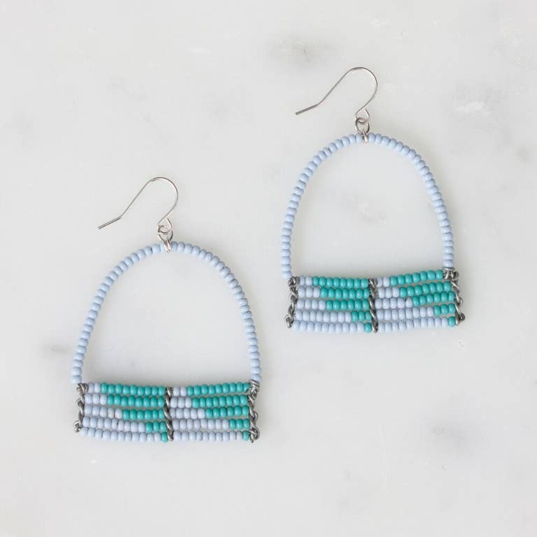 Light Blue and Turquoise Sera Earrings