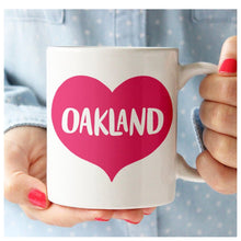 Load image into Gallery viewer, Oakland Heart Ceramic Mug