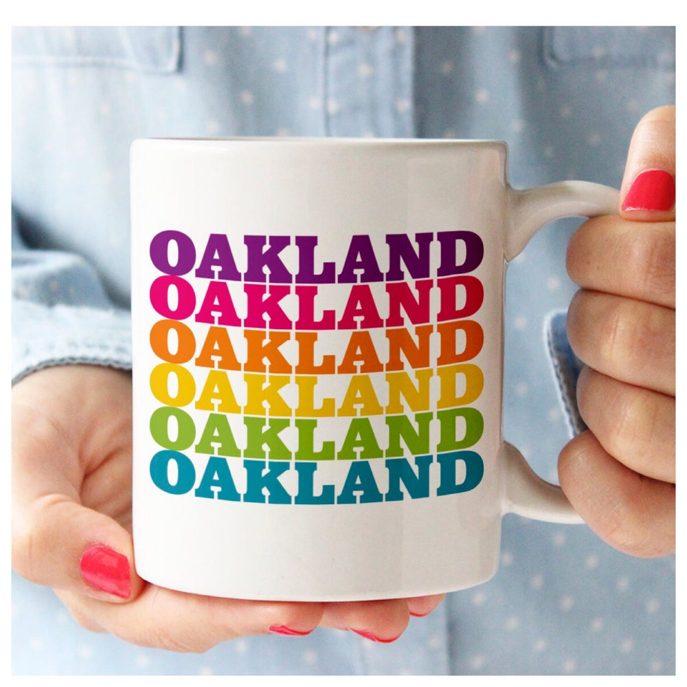 Oakland Rainbow Ceramic Mug