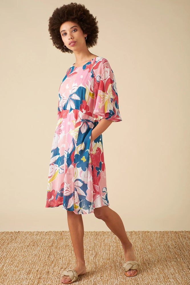 Ines Pink Isilah Floral Dress