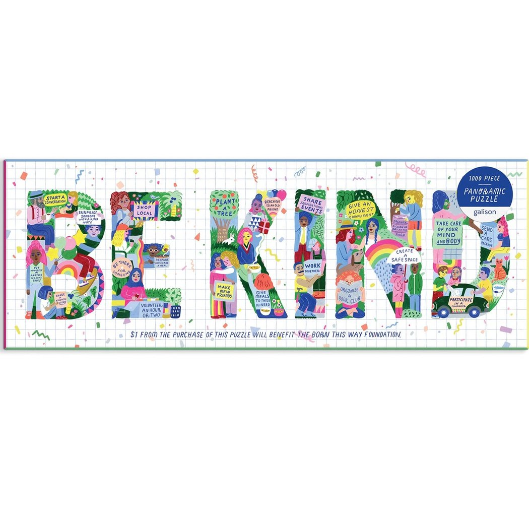 Be Kind Panoramic Puzzle