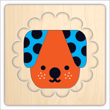 Load image into Gallery viewer, Animal Faces 4 Layer Wood Puzzle
