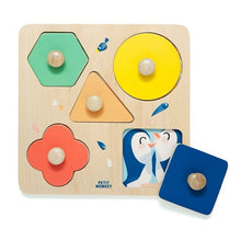 Load image into Gallery viewer, Wooden Puzzle One Day at the Zoo