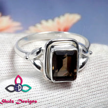 Load image into Gallery viewer, Smoky Quartz Ring, Quartz Ring, Brown Ring, 925 Sterling Silver Ring, Solid Silver Ring, Mother Gift Idea, Gift For Friend, Birthday Gift