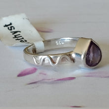 Load image into Gallery viewer, Size 5 US, AAA Amethyst Ring, Sterling Silver Ring, Natural Amethyst Ring, Real Gemstone Ring, Unique Ring, Designer RIng, Dainty Ring, RIng
