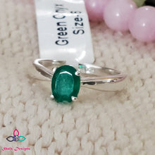 Load image into Gallery viewer, Green Onyx Ring, Onyx Ring, Stacking Ring, 925 Silver Ring, Dainty Ring, Sterling Silver Ring, Women Ring, For Her, Size 6,7, 9US, Z630