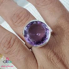 Load image into Gallery viewer, Purple Amethyst Ring, Amethyst Ring, Huge Stone Ring, Big Stone Ring, For Her, Mother's Day, Gift Idea, Gemstone Ring, Ring Size 7US, Z74