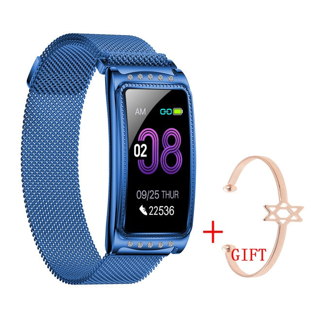 UGUMO Women Smart Watch For Android IOS Heart Rate Measuring Blood Pressure Monitor Women's Bracelet Waterproof Fitness Bracelet