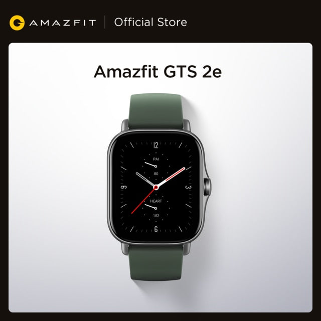 2021 New Global Amazfit GTS 2e Smartwatch 24H  90 Sports Modes 5 ATM 24 Days Battery Life Smart Watch for Android