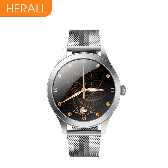 HERALL 2021 Fashion Smart Watch Luxurious Women's Watches Bracelet Blood Pressure Health Monitoring Smartwatch For Android iOS