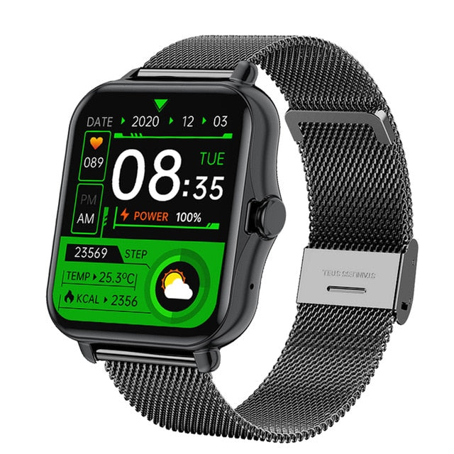 GEJIAN  Bluetooth Call Smart Watch Men Women Smartwatch ECG Fitness Tracker Waterproof 1.69 inch touch screen For Android iOS