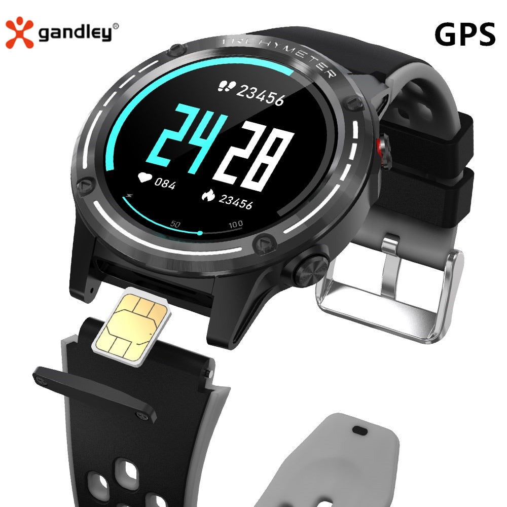Gandley M6S Smart Watch For Men GPS Smartwatch With SIM Card 2021 Compass Bluetoothl Call Fitness Tracker For Android IOS