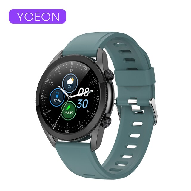 YOEON 2021 NEW Smart Watch Bluetooth Call Smartwatch For Men Waterproof Fitness Bracelet Heart Rate Monitor For Android Apple