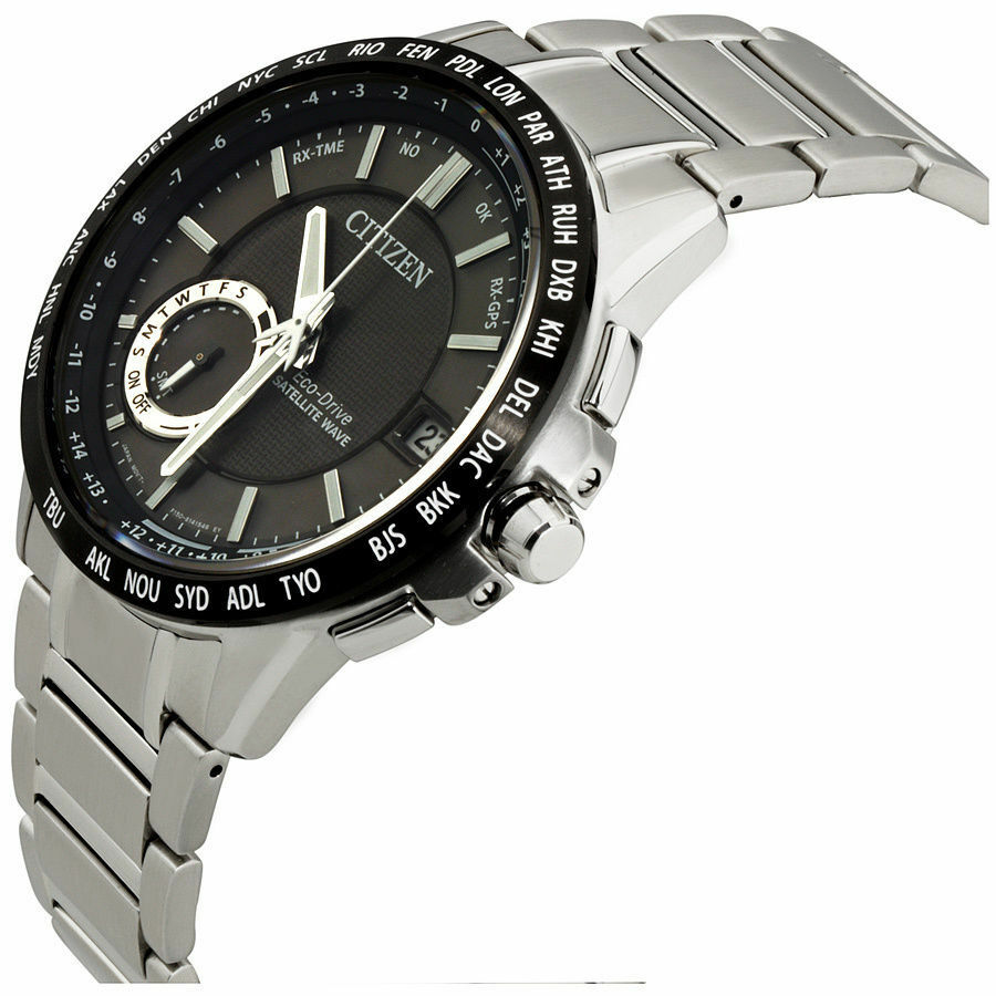 Citizen Satellite Wave Black Dial Silver Men's Watch CC300585E