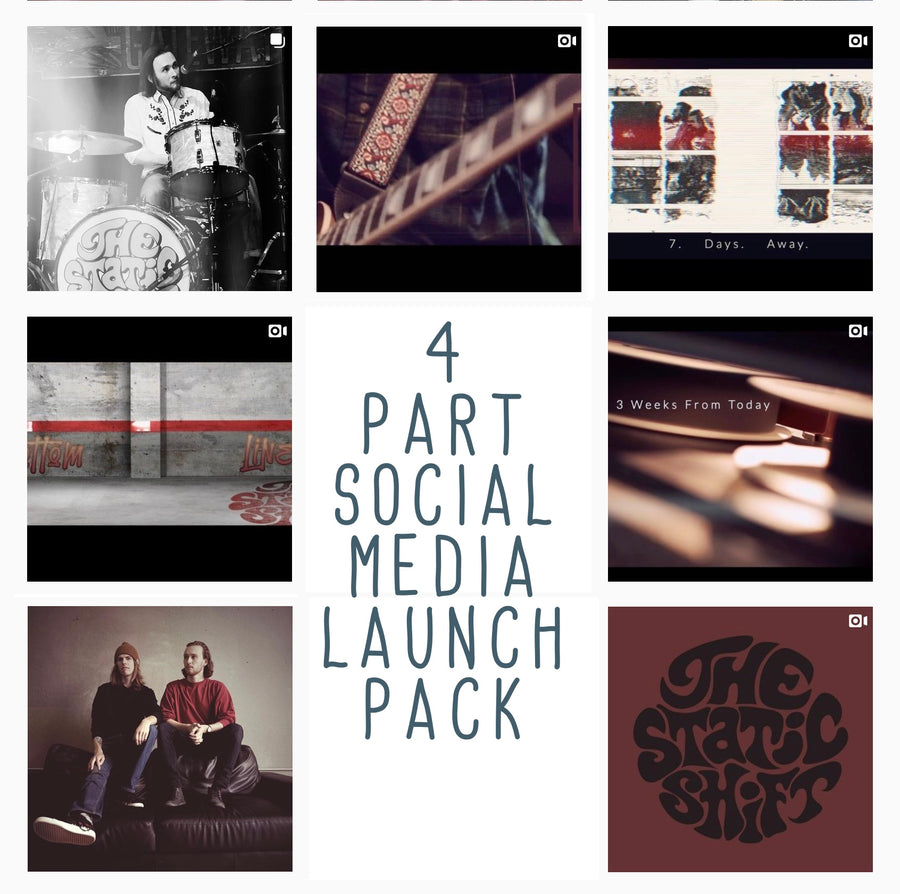 Social Media Launch Package - Four Part Product Launch Package