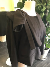 Load image into Gallery viewer, Black Blazer with Abstract Bow Detail on Shoulder by Eloquii, Size 26