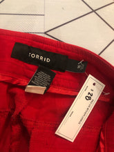 Load image into Gallery viewer, Red Hidden-Button Slacks by Torrid, Size 16