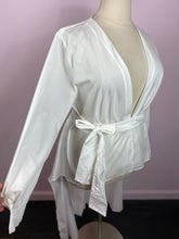 Load image into Gallery viewer, White Hi-Low Wrap Duster SHEIN, 1X, 2X & 3X