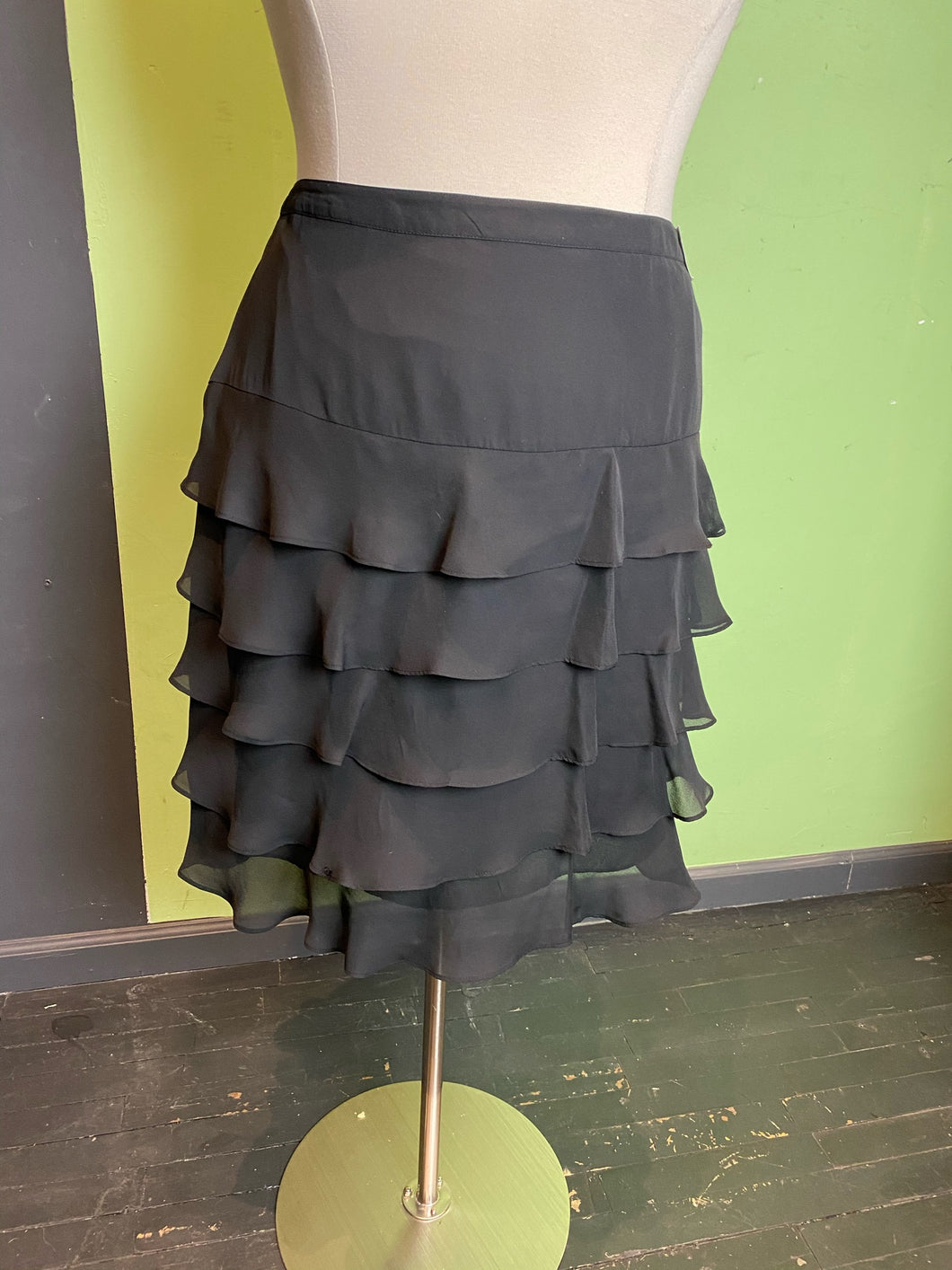 Gray Tiered Ruffle Lane Bryant Skirt, Size 28