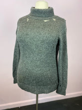 Load image into Gallery viewer, Gray Knit Turtleneck with Distressing by Forever 21, Size 2X