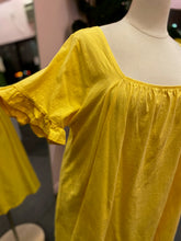 Load image into Gallery viewer, Yellow Babydoll Muumuu Mini Dress with Ruffle Sleeves by ASOS, Size 22