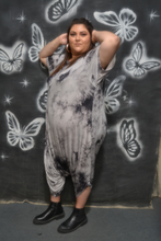 Load image into Gallery viewer, Gray Tie Dye Bubble Romper