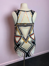 Load image into Gallery viewer, Multicolor Geometric Mossimo Tunic with Sheer Panels, Size 2X