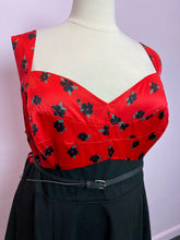 Load image into Gallery viewer, Red and Black Floral Torrid Dress, Size 26