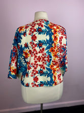 Load image into Gallery viewer, Tropical Floral Print Open Front Cardigan, Label Be 1X