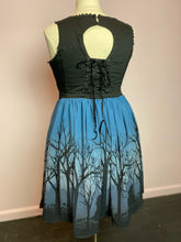 Load image into Gallery viewer, Blue and Black Alice in Wonderland Corset Dress by Disney, Size 16