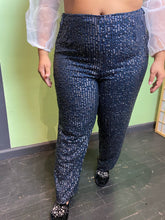 Load image into Gallery viewer, Navy Asos Sequin Pants, Size 18