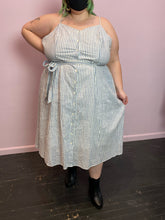 Load image into Gallery viewer, Blue and Whit Striped Who What Wear Dress, Size 4X