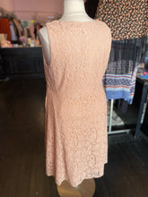 Load image into Gallery viewer, Light Pink Floral Lace Overlay Midi Dress, Torrid Size 3