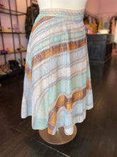 Load image into Gallery viewer, Asymmetrical Striped Patchwork Midi Skirt, Antropologie Size 14