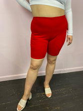 Load image into Gallery viewer, Red Mid-Length Bike Shorts byFashion Nova, Size 1X