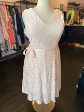 Load image into Gallery viewer, Pink Lace Fit & Flare Sleeveless Dress by Lane Bryant, Size 20