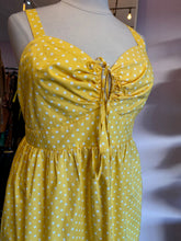 Load image into Gallery viewer, Yellow with White Polka Dots Retro-Fit Tank Dress by Torrid, Size 28