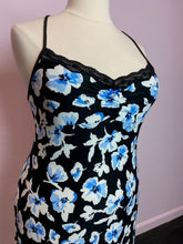 Load image into Gallery viewer, Black and Blue Floral Lacy Slip by Apt 9, Size XL
