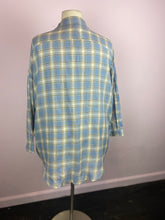 Load image into Gallery viewer, Oversized Blue & White Checkered Button Up, Boohoo Size 14