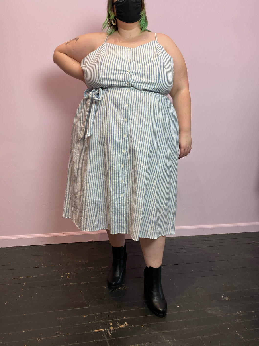 Blue and Whit Striped Who What Wear Dress, Size 4X