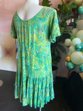 Load image into Gallery viewer, Green, Yellow and Blue Dress, Vintage, Size XL