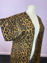 Load image into Gallery viewer, Leopard Print Short Sleeve Duster, Size 1X