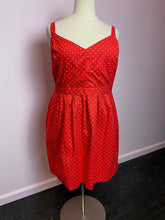 Load image into Gallery viewer, Red with Mini White Polka Dots Dress by Joe Brown's, Size 3X/4X