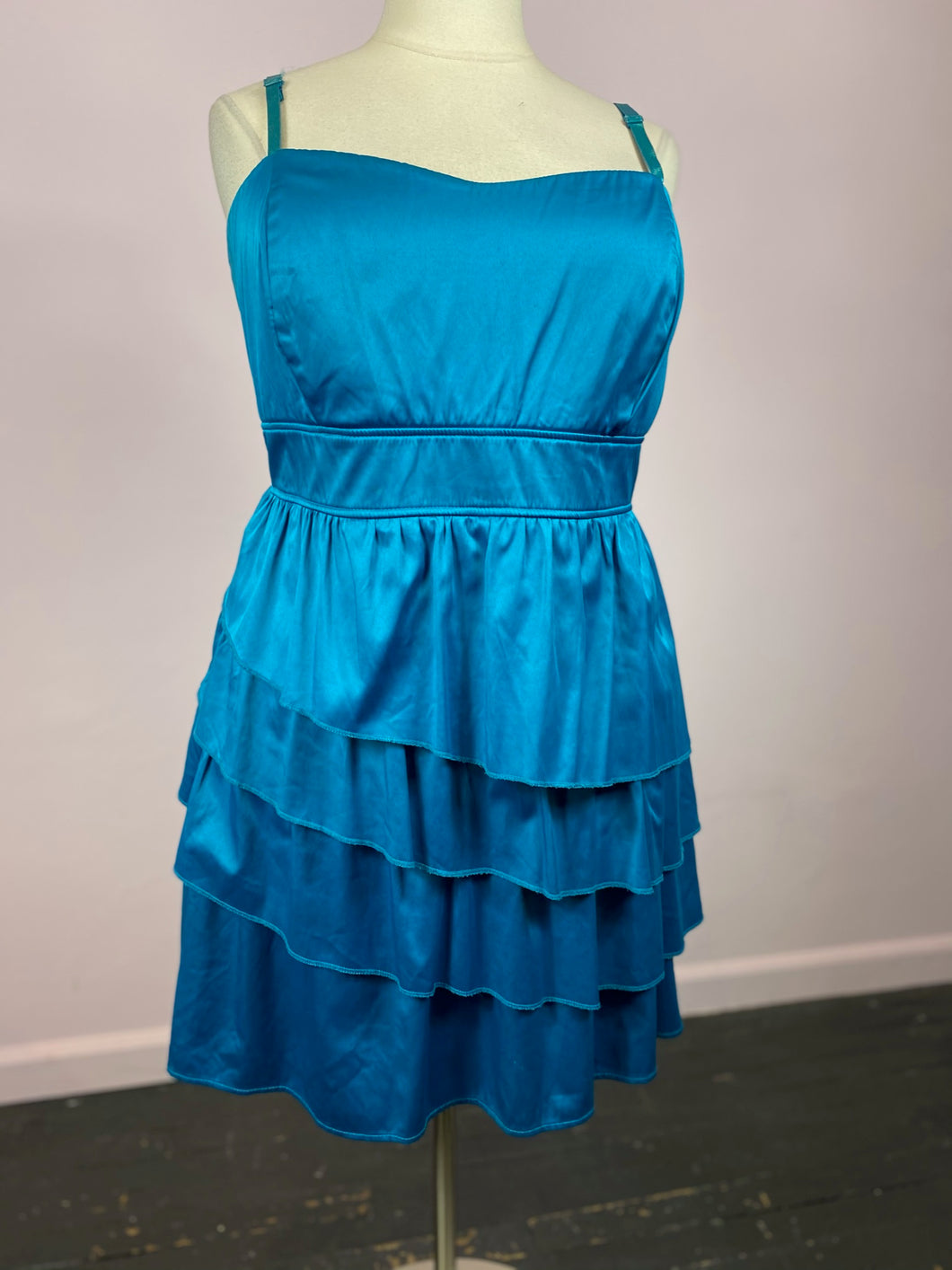 Electric Blue Layered Torrid Dress, Size 22
