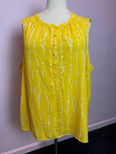 Load image into Gallery viewer, Lemon Yellow Sleeveless Top with White Branch Print by Ava & Viv, Size 4X
