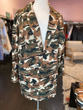 Load image into Gallery viewer, Fashion to Figure Gabrielle Union Green and Brown Camouflage 2-Piece Suit, Size 3