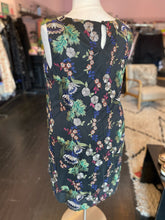 Load image into Gallery viewer, Lane Bryant Black Shift Dress with Embroidered Multicolor Floral, Size 16