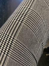 Load image into Gallery viewer, NYDJ Gray, Black and White Houndstooth and Plaid Slacks, Size 14
