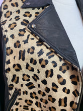 Load image into Gallery viewer, Leopard Print Cropped Leather Jacket, ASOS US 14
